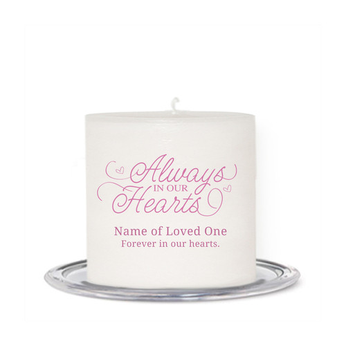 Always Small Wax In Loving Memory Candle front