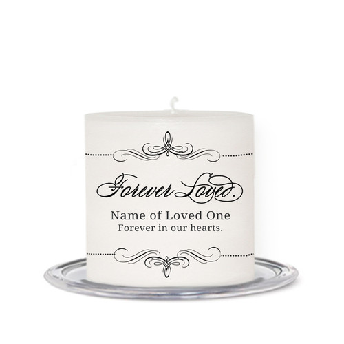 Arabasque Small Wax In Loving Memory Candle front