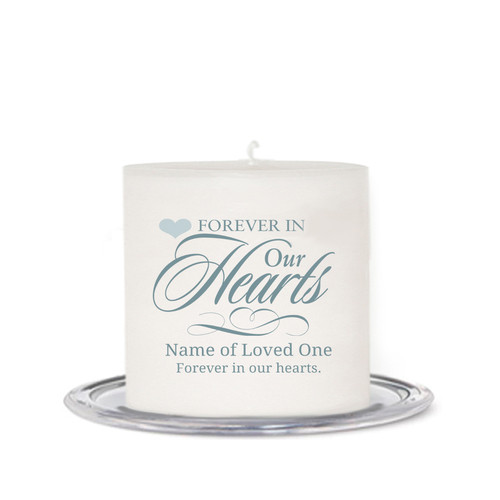 Forever Small Memorial In Loving Memory Candle front