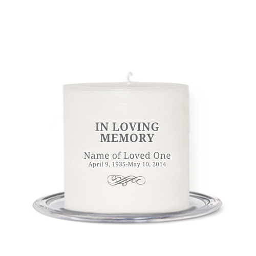 Simple Small Wax Memorial In Loving Memory Candle front