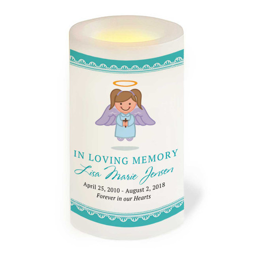 Ambrosia Flameless In Loving Memory Memorial LED Candle front