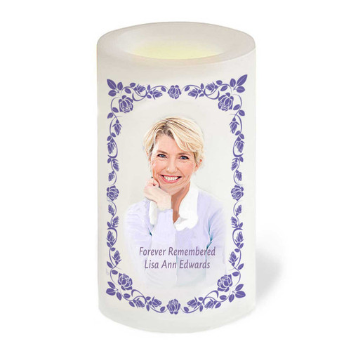 AnnaBelle Flameless In Loving Memory Memorial LED Candle front