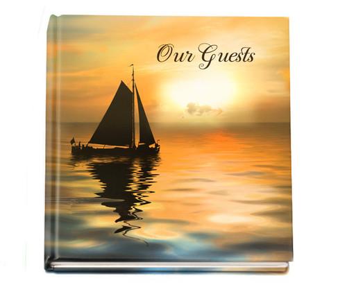 sailboat funeral guest book