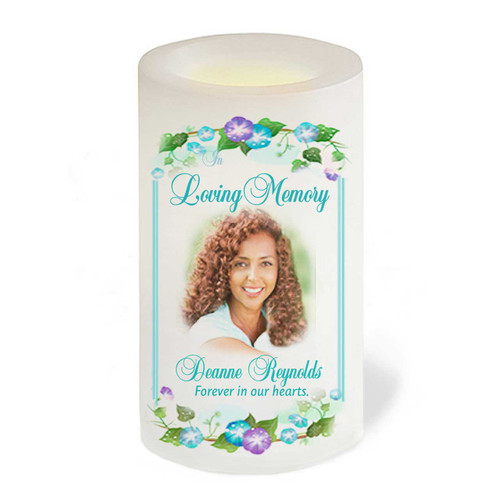Dedication Flameless In Loving Memory Memorial LED Candle front