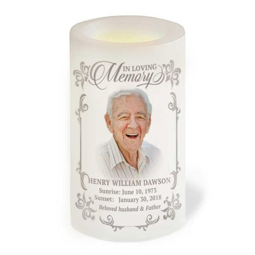 Eureka Flameless In Loving Memory Memorial LED Candle front