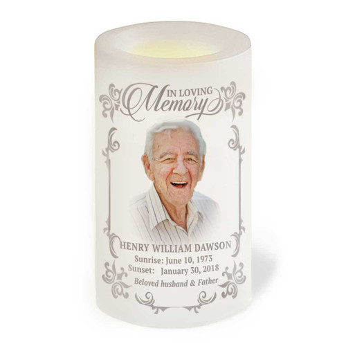 Eureka Flameless In Loving Memory Memorial LED Candle front