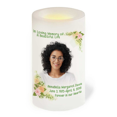 Somerset Flameless LED Memorial Candle