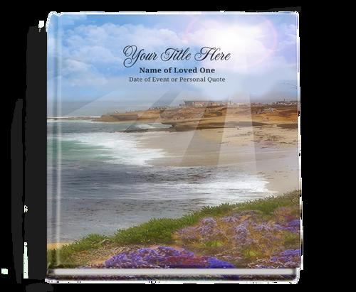 seascape funeral guest book