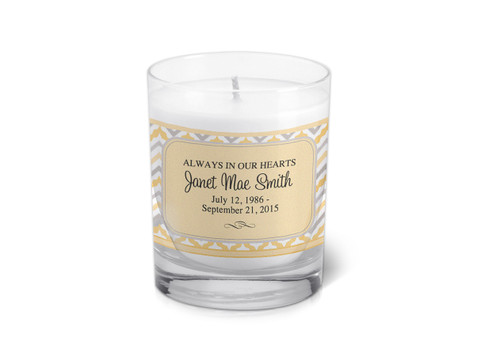 ZigZag Memorial Votive Candle