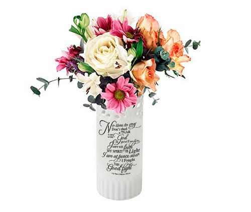 No Time To Cry Loving Memory Vase Ceramic Flower Memorial Vase
