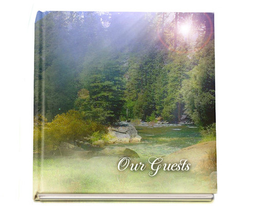 serenity funeral guest book