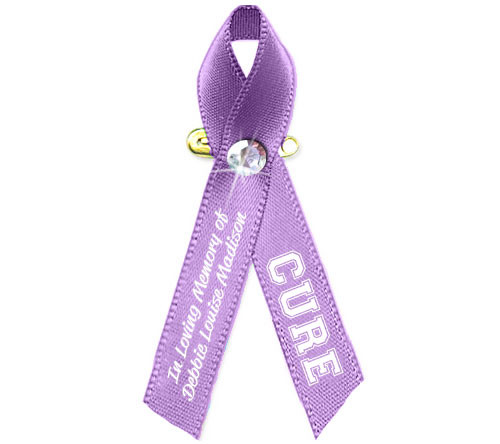 All Cancers Personalized Awareness Ribbon (Lavender) - Pack of 10
