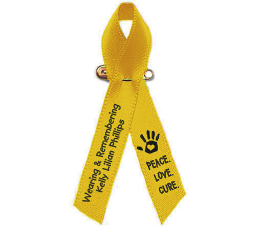 Childhood Personalized Cancer Awareness Ribbon
