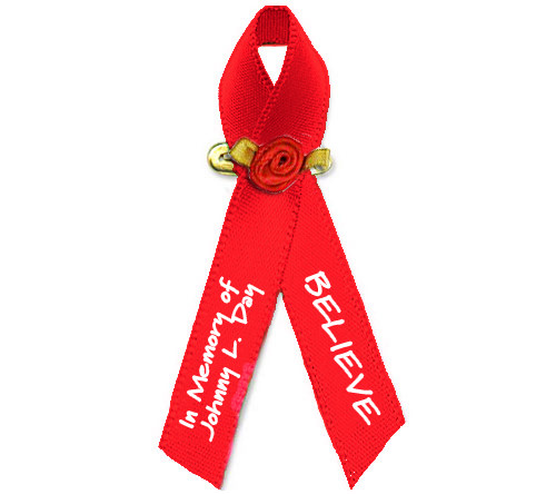 HIV/Aids Personalized Awareness Ribbon (Red)