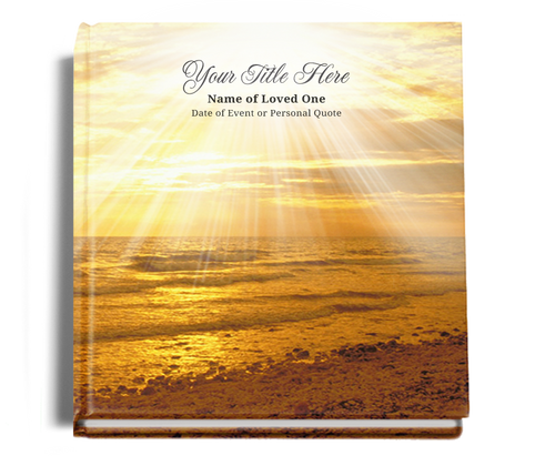 shine funeral guest book