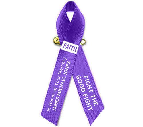 Personalized Pancreatic Cancer Ribbon (Purple)