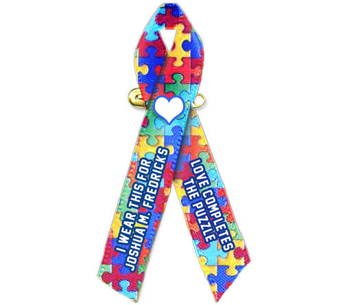 Personalized Autism Awareness Ribbon (Puzzle) - Pack of 10