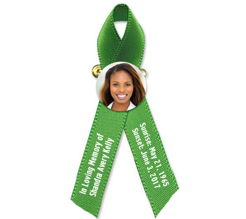 Personalized Photo Cancer Awareness Ribbon (Any Color) - Pack of 10