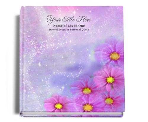 sparkle funeral guest book