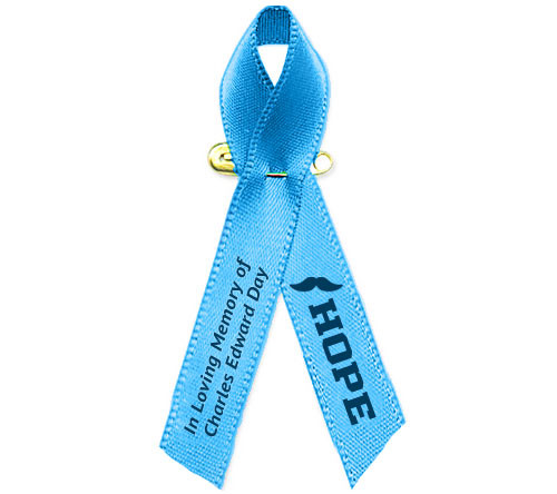 Personalized Prostrate Cancer Awareness Ribbon (Lt. Blue) - Pack of 10