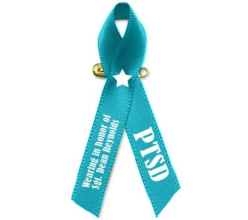 PTSD Awareness Personalized Ribbon (Teal)