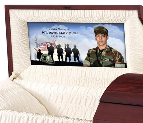 U.S. Army Casket Head Panel Insert