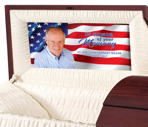 U.S. Flag Casket Head Panel Insert