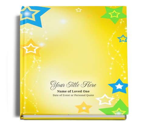 starry funeral guest book