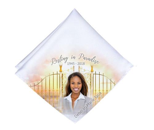 Golden Gates Mens or Ladies Memorial Personalized Handkerchief