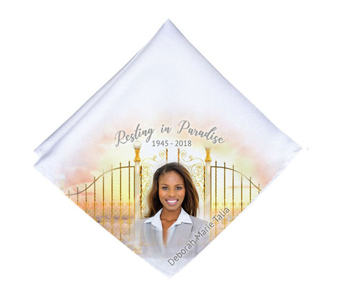 Golden Gates Mens or Ladies Memorial Personalized Handkerchief
