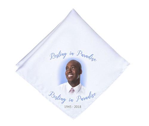 Simple Cameo Mens or Ladies Memorial Personalized Handkerchief