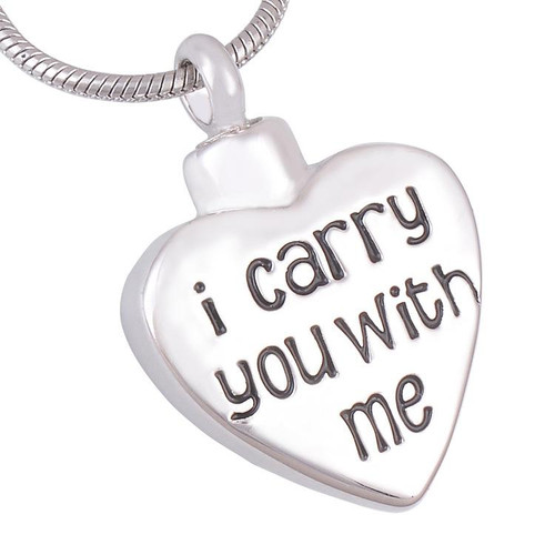 I Carry You With Me Urn Pendant Necklace