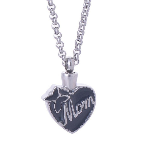 Stainless Steel Mom Butterfly Urn Necklace