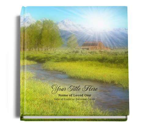 tranquil funeral guest book
