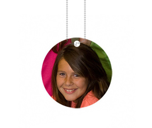 Personalized Round Aluminum Charm In Loving Memory Photo Pendant