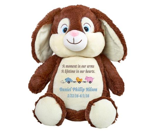 Chocolate Bunny Memorial Stuffed Animal/Urn
