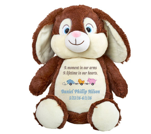 Chocolate Bunny Memorial Stuffed Animal/Urn
