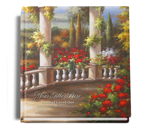 tuscany funeral guest book