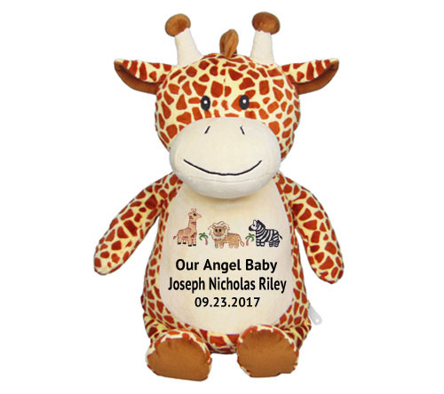 Giraffe Memorial Stuffed Animal Urn Funeral Program Site