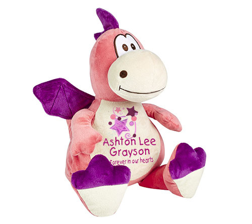 Pink Dragon Memorial Stuffed Animal/Urn