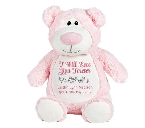 Pink Teddy Bear Memorial Stuffed Animal/Urn