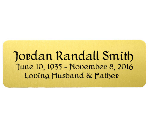 Personalized 1 x 3 Rectangle Metal Plate