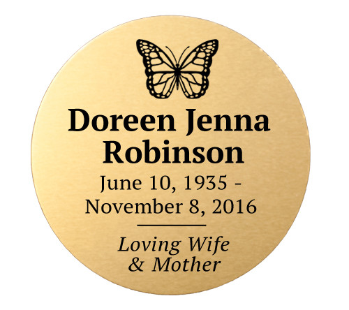 Personalized 2 Inch Circle Metal Plate
