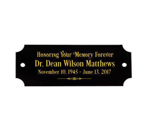 Personalized 7/8 x 2.5 Inch Decorative Black Brass Plate