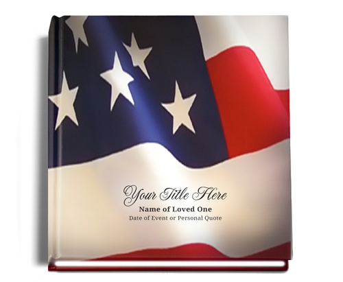 us flag funeral guest book
