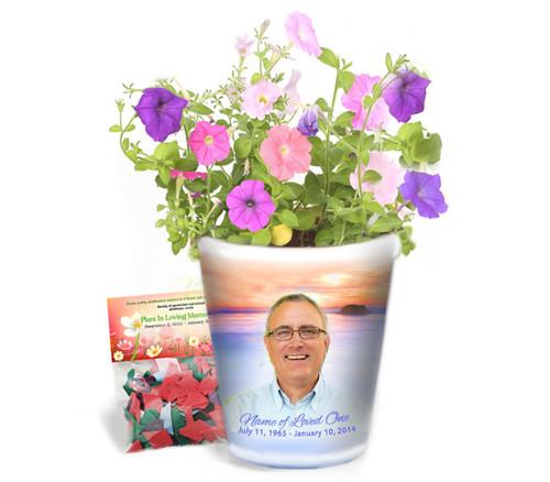 Dusk Personalized Memorial Ceramic Flower Pot