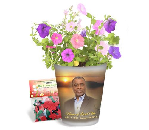 Kenya Personalized Memorial Ceramic Flower Pot