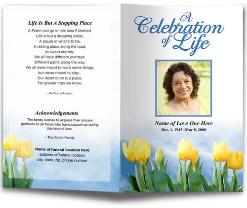 inspire funeral program template