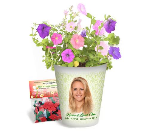 Springtime Personalized Memorial Ceramic Flower Pot