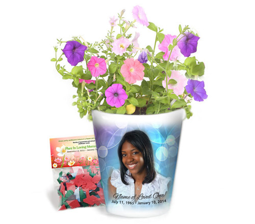 Strobe Personalized Memorial Ceramic Flower Pot